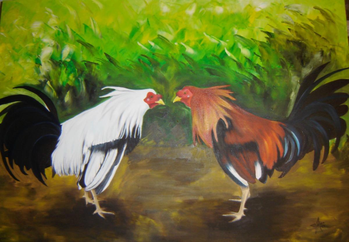 Hombres gallos negros